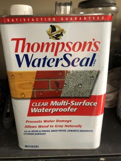 Thompson s water seal. Have about 3/4 to half left.