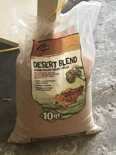 Sand for reptile tanks