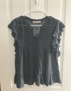 Large, Abercrombie & Fitch Midnight Blue Blouse