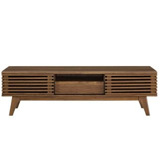 """New 59"""" Walnut Display TV Stand Includes Shipping"""