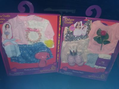 2 packs of New My Generation Doll clothes