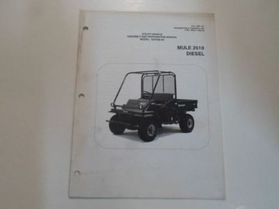 Buy 2002 Kawasaki Mule 2510 Diesel Utility Assembly & Preparation Manual STAINED OEM motorcycle in Sterling Heights, Michigan, United States, for US $22.95