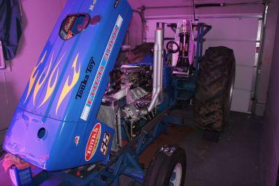 Classic Modified tractor and Aluma 18' trailer