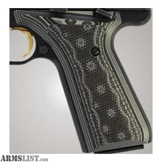 For Sale: Hogue Browning BuckMark Grip Checkered G-10 G-Mascus Black/Gray 72177-BLKGRY