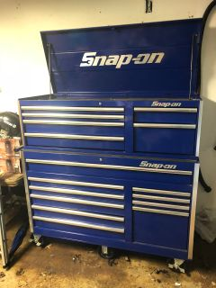Husky Tool Box, big box, only has Snap on stickers, Moving 650 obo, good shape, Not a Snap On, but still nice box!!!