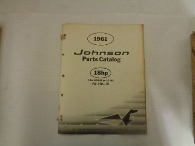 Buy 1961 JOHNSON PARTS CATALOG 18 HP MOTORS @@@CHECK THIS OUT@@@ motorcycle in Atlanta, Georgia, United States, for US $14.99
