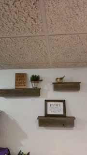 3 Handmade shelves from reclaimed wood(decorative items not included)