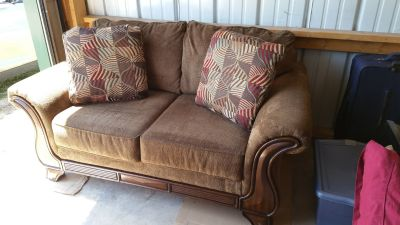Almost new couch and loveseat.