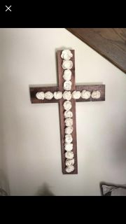 Large Flower Cross-Wood Pallet NEW
