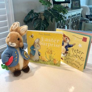 Peter Rabbit EUC books and stuffed animal NS/NP home