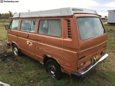 1981 Westfalia Vanagon, CA dry, project, auto