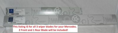 Find 2006 to 2011 Mercedes R Class (V251) FRONT + REAR Windshield Wiper Blades - OEM motorcycle in Lexington, Kentucky, US, for US $55.00