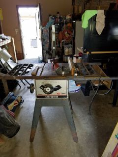 Craftsman 10 inch blade table saw