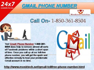 Does Gmail Phone Number Available and Accessible All the Time 1-850-361-8504?