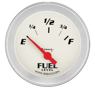 "Purchase Equus 8361 2"" Ford & Chrysler Fuel Level Gauge White Dial Face 90 Sweep motorcycle in Decatur, Georgia, United States, for US $28.97"