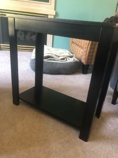 Black small table