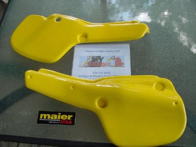 Sell 1983 83 Yamaha YZ250 YZ 490 YZ 250 490 YELLOW Side Panels SET NEW! motorcycle in Royal Oak, Michigan, US, for US $75.00