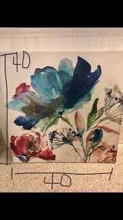 Flower wall art picture