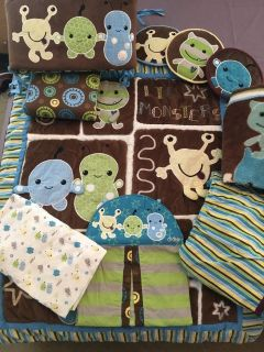 CoCaLo Baby Peek-A-Boo Monsters Crib Bedding and Accessories