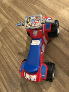 Paw Patrol ride on toy- up to 44lbs