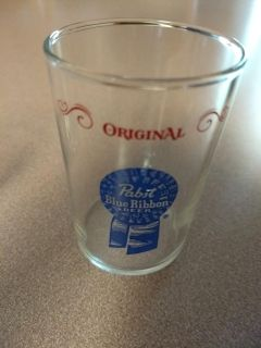 Pabst blue ribbon chaser glass