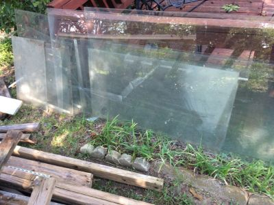 Double pane glass from greenhouse