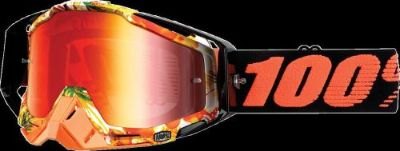 "Find 100% RACECRAFT GOGGLES ""PARADISE"" RED MIRRORED LENS motorcycle in Redford, Michigan, United States, for US $71.99"