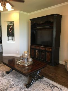 Hooker Grandover coffee table and entertainment armoire $2000