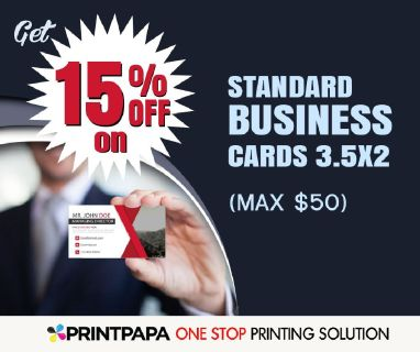 15% Off on Standard Business Cards 3.5x2