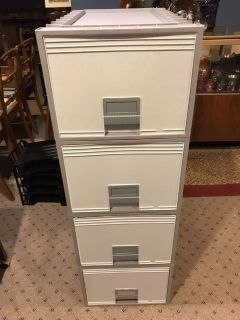 Stackable file drawers.