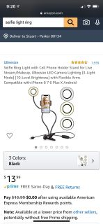 Excellent condition selfie light ring