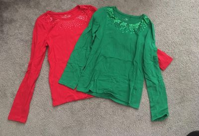 Red and green top