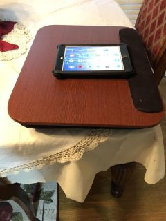Lap table with cushion stuff on bottom