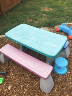 Fisher price table and extra stool