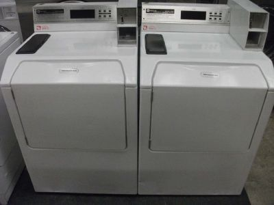 Fair Condition Maytag Neptune Commercial Washing Machine Model MAH21PDAWW
