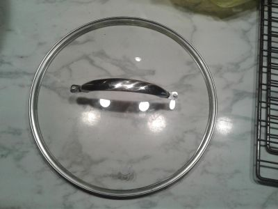 """Greenpan Brand Lid 12"""" Glass & Stainless Excellent Condition"""