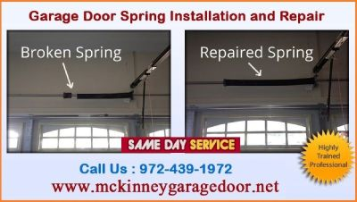 24/7 Residential Garage Door Spring Repair ($25.95) McKinney, 75069 TX