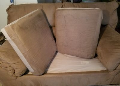 Suede Loveseat-PICKUP ONLY