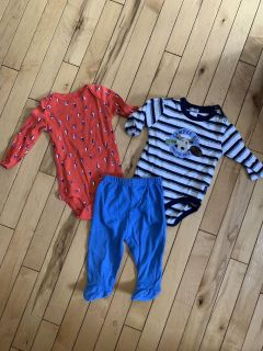 6 Month Onesies and Pant Set