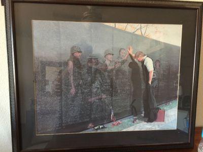 Vietnam memorial wall print