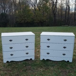 MATCHING FARMSTYLE CHEST OF DRAWERS / NIGHT STANDS ($150 EACH)
