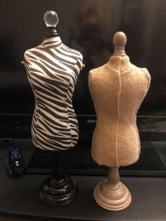 Two small doll dress forms