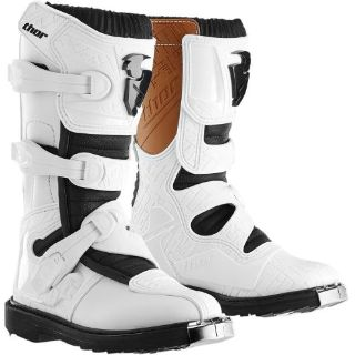 Buy NEW THOR YOUTH KIDS BOYS GIRLS BLACK WHITE BLITZ MOTOCROSS MX ATV BOOTS RIDING motorcycle in Ellington, Connecticut, United States, for US $129.95