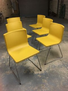 Leather dining chairs - Ikea