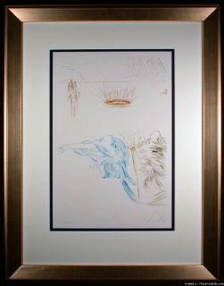 Tristam s Testament Signed Original Etching by Salvador Dali