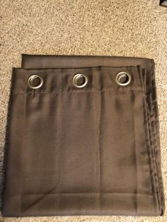 2 Brown panel curtains