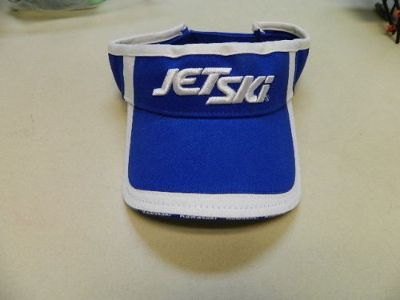 Sell Kawasaki Jet ski blue & white adjustable visor swoop hat motorcycle in Lewisville, Texas, United States, for US $8.00