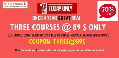 LAST FEW HOURS THREE SAP COURSES @89$ Only -