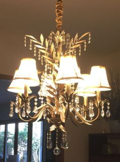 Bombay Company crystal chandelier
