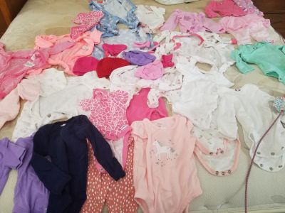 Gently used girl baby clothes